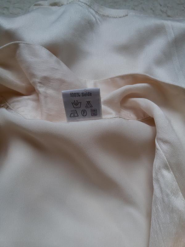 Шелковая рубашка для дома 100% натуральный шелк galaxy швейцария - Фото 9