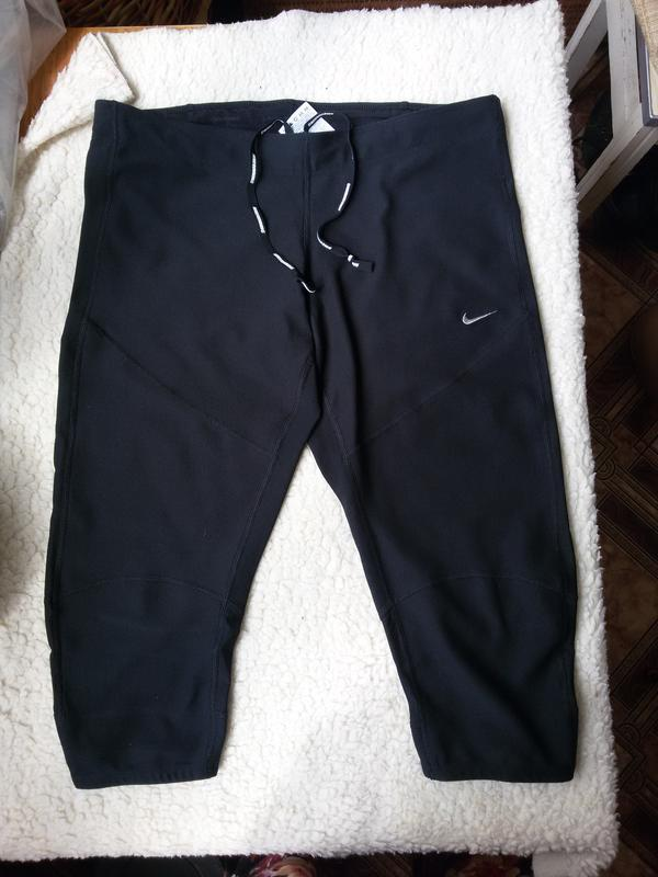 Спортивные штаны капри / леггинсы nike running dri fit