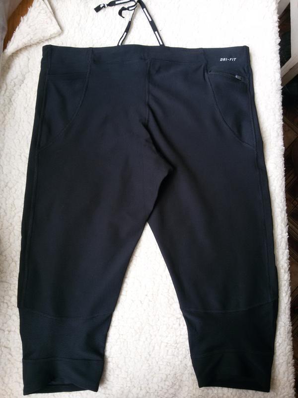 Спортивные штаны капри / леггинсы nike running dri fit - Фото 2