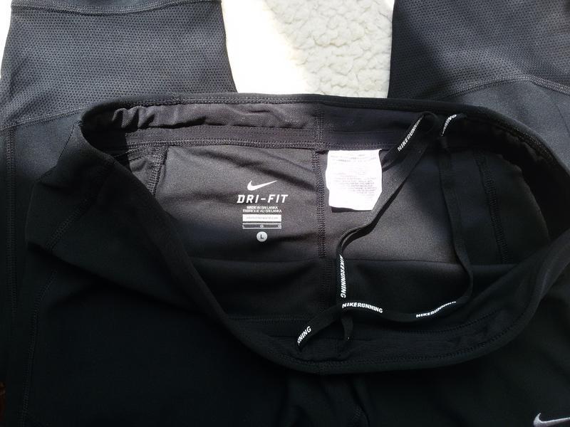 Спортивные штаны капри / леггинсы nike running dri fit - Фото 3
