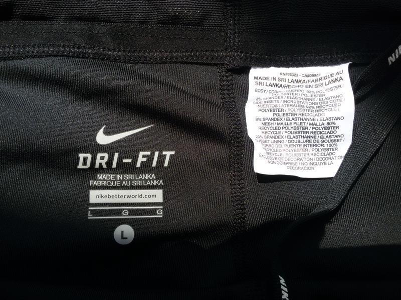 Спортивные штаны капри / леггинсы nike running dri fit - Фото 4