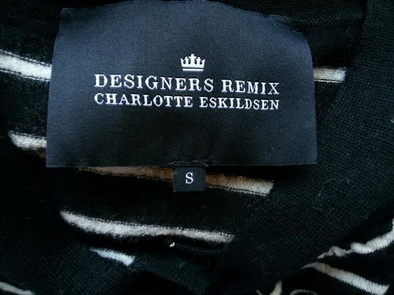Дизайнерский свитер в полоску  100% мериносовая шерсть designe... - Фото 2