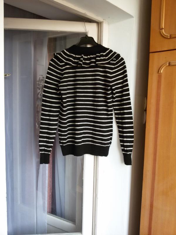 Дизайнерский свитер в полоску  100% мериносовая шерсть designe... - Фото 4
