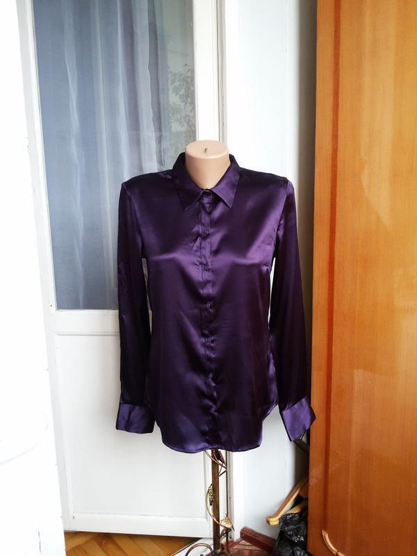 Роскошная  шелковая рубашка h&m 100% шелк