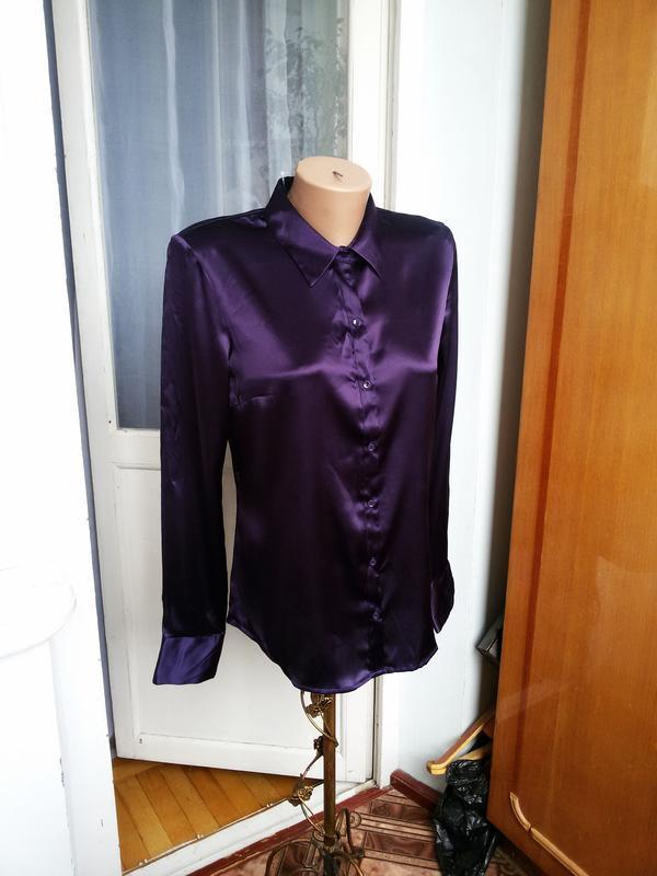 Роскошная  шелковая рубашка h&m 100% шелк - Фото 2