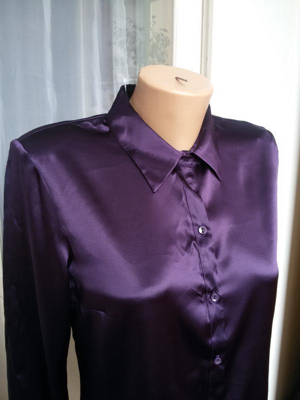 Роскошная  шелковая рубашка h&m 100% шелк - Фото 3