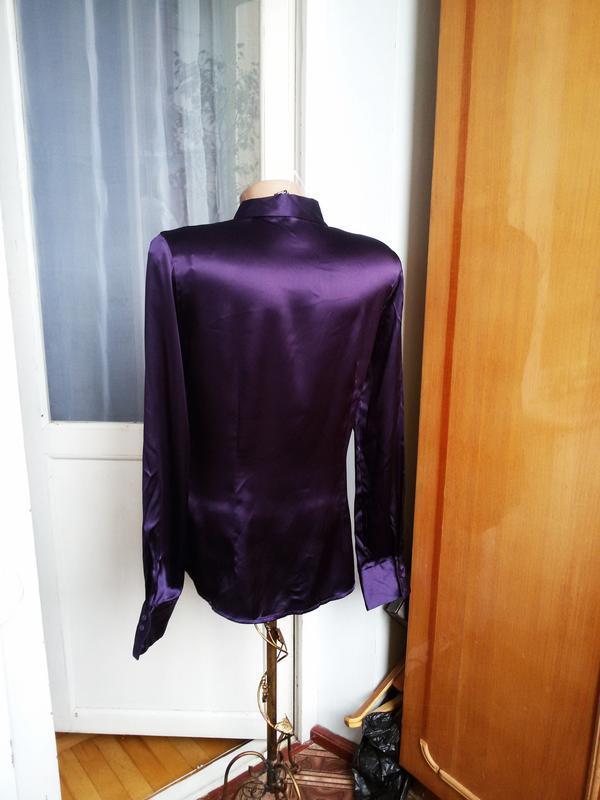Роскошная  шелковая рубашка h&m 100% шелк - Фото 4