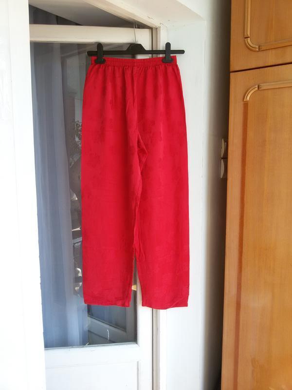 Шелковые пижамные брюки для дома 100% шелк