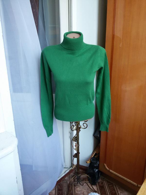 Роскошный кашемировый свитер  с высоким воротом allude 100% ка...