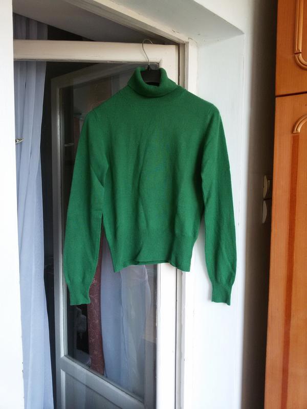 Роскошный кашемировый свитер  с высоким воротом allude 100% ка... - Фото 2