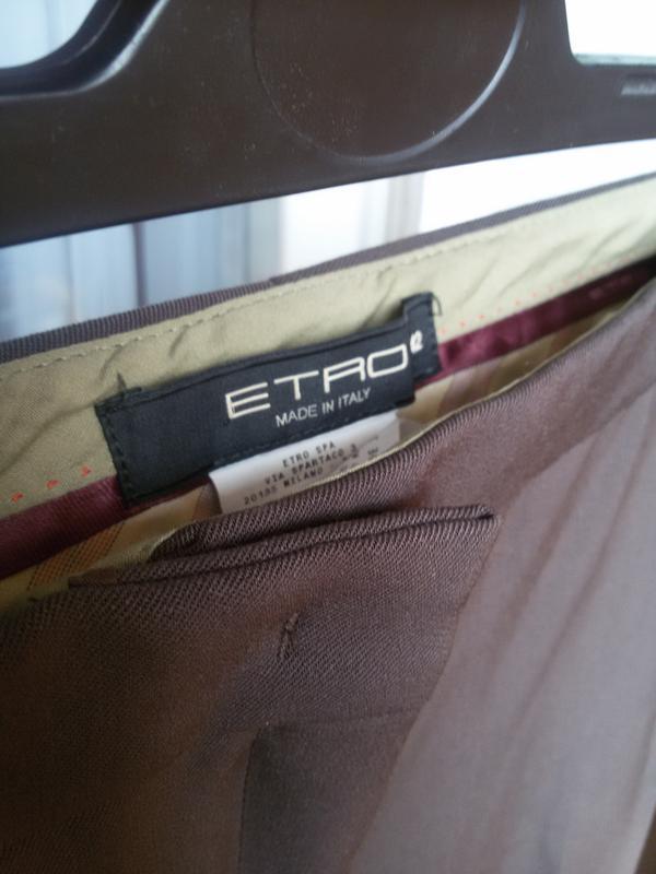 Шерстяные брюки etro - Фото 4