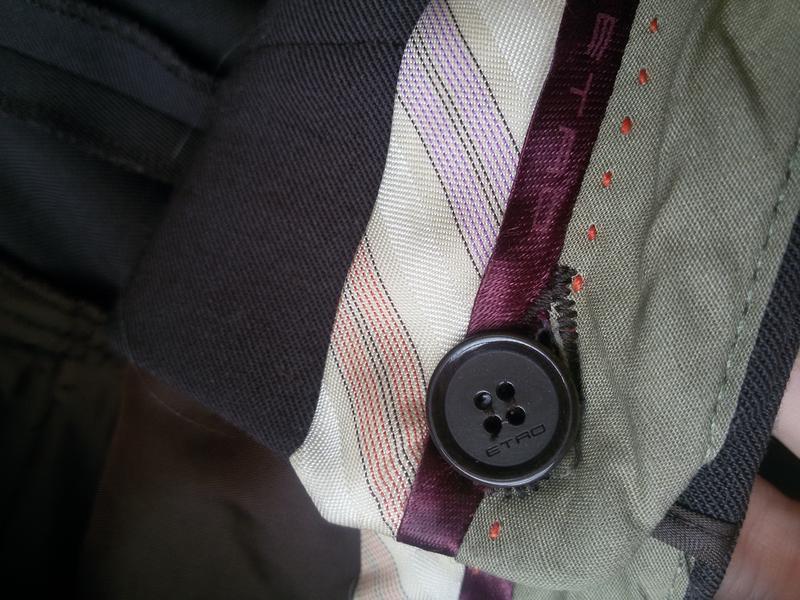 Шерстяные брюки etro - Фото 5