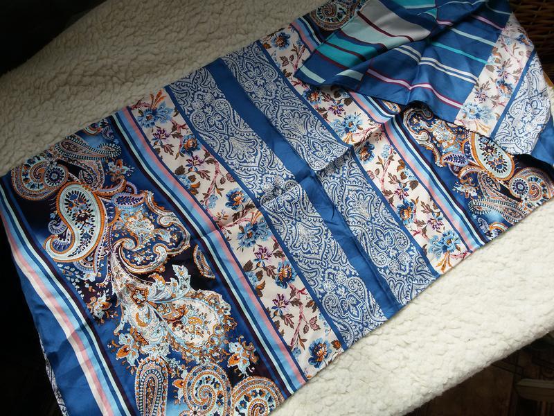 Шелковый шарф codello 100% шелк 40*155