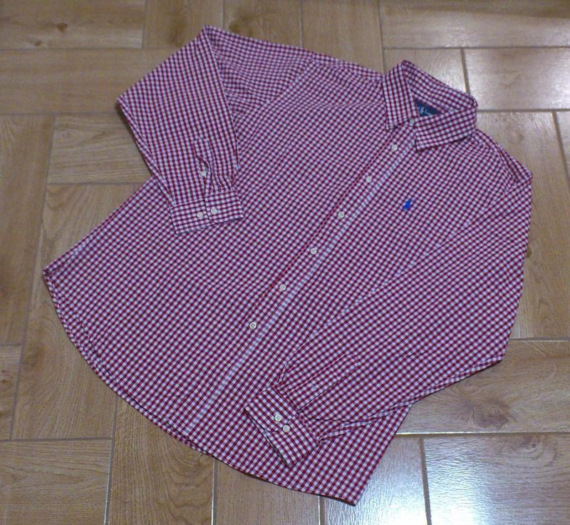 Рубашка мужская хлопковая в мелкую клетку сорочка чоловіча pol...