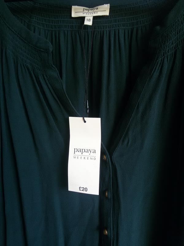 Стильное платье рубашка papaya с поясом 100% вискоза - Фото 3