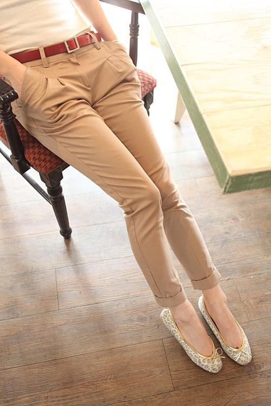Стильные брюки c косыми карманами