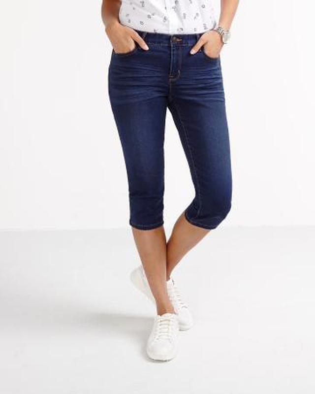 Стильные джинсовые шорты  river island 12 размер - Фото 2