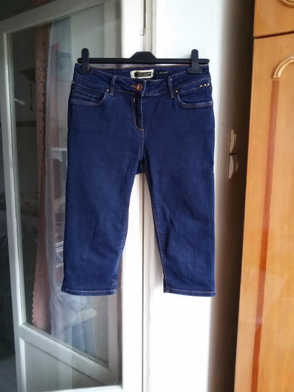 Стильные джинсовые шорты  river island 12 размер - Фото 3