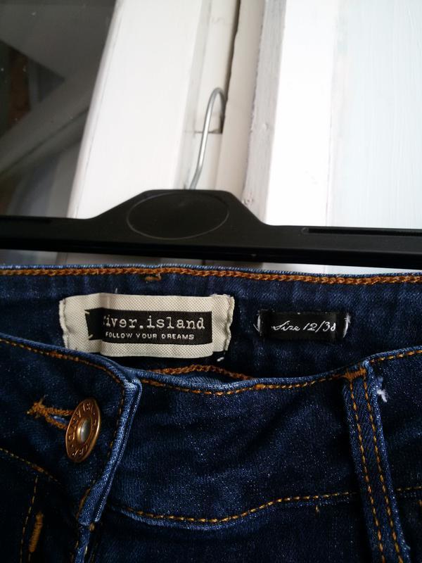 Стильные джинсовые шорты  river island 12 размер - Фото 4