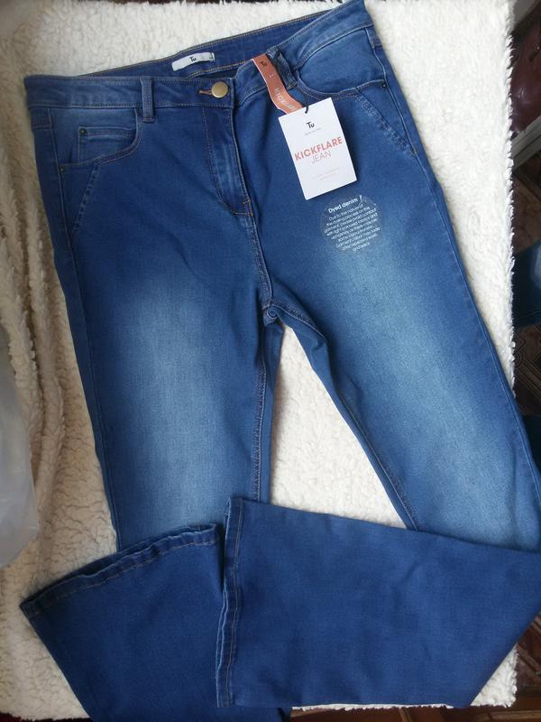 Роскошные стильные джинсы клеш 14размер - Фото 4