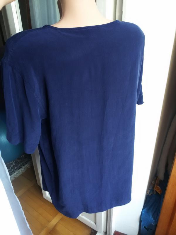 Шелковая  блуза 100% шелк gina monti - Фото 2