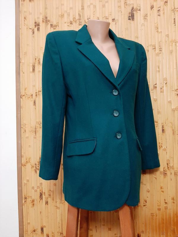 Зеленый шерстяной пиджак изумрудный жакет david n
