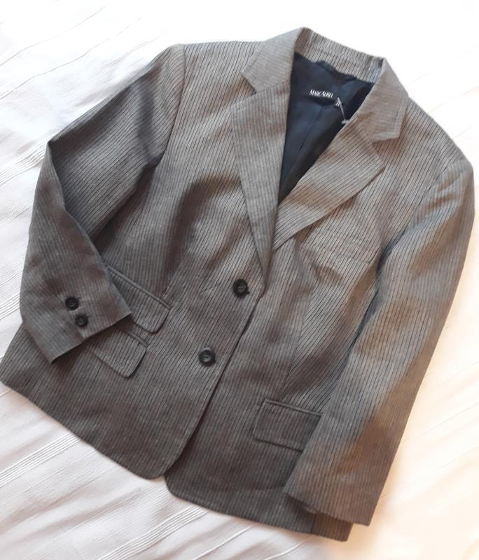 Marc aurel новый брендовый жакет#пиджак#блейзер шерсть#лен, в ... - Фото 6