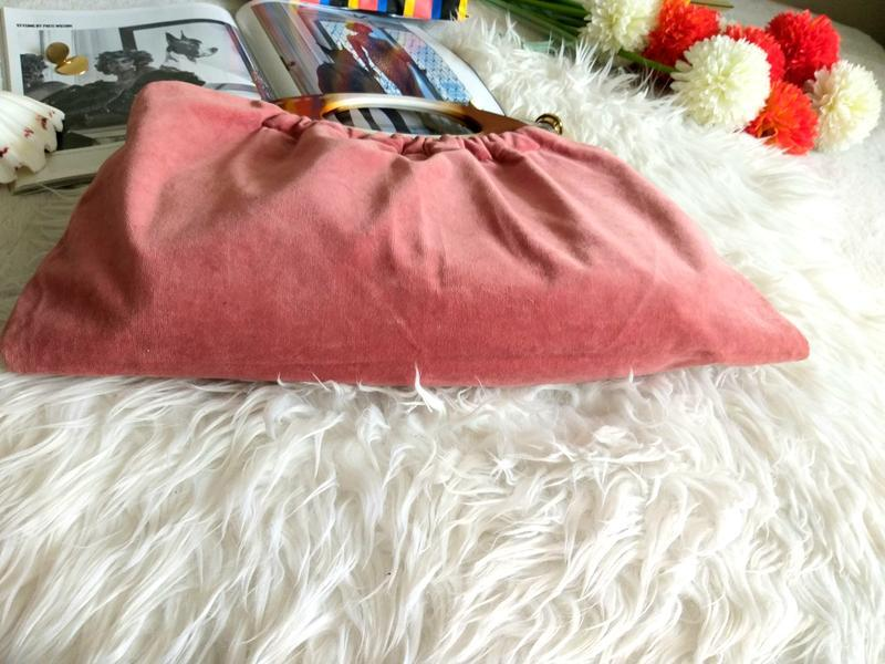 Бархатная сумочка с ручками под натуральный камень фото - Фото 3