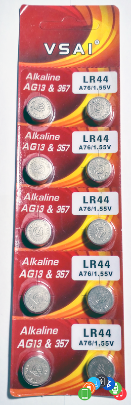 Батарейка 1.55 V AG13 / LR44 / 357 / R44 / A76 / SR1154 / LR1154