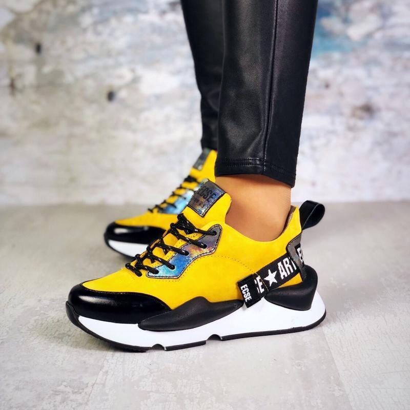 Натуральная замша люксовые кроссовки на массивной подошве