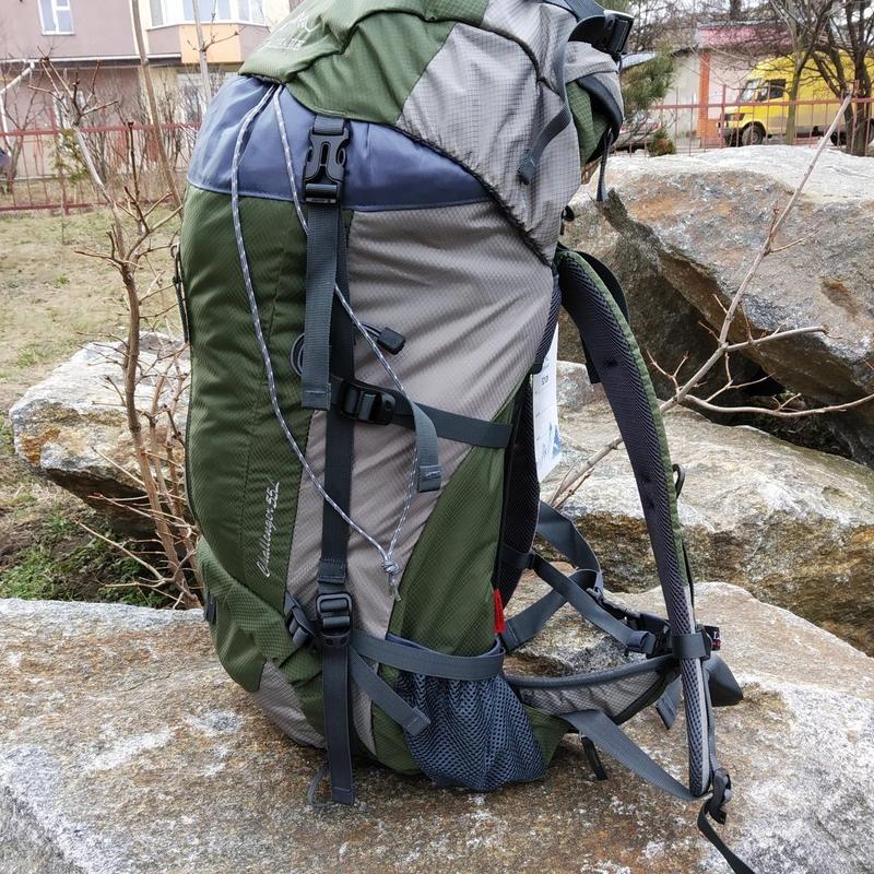 Каркасный туристический рюкзак с чехлом LEADHAKE - Фото 2