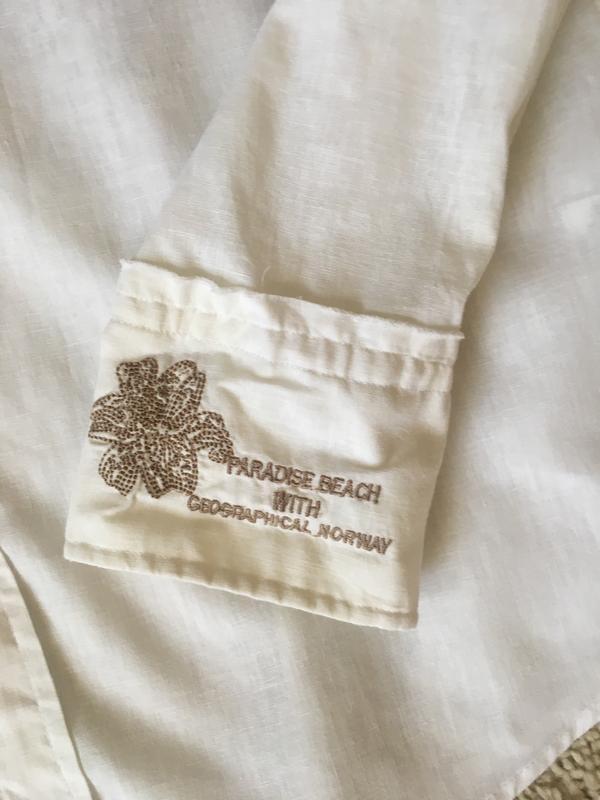 Рубашка geographical norway, лён с хлопком - Фото 6