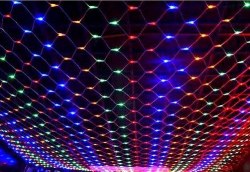 Гирлянда новогодняя светодиодная сетка - Фото 3