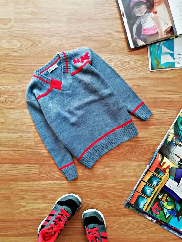 Детский вязаный джемпер - пуловер - свитер penguin для мальчик...