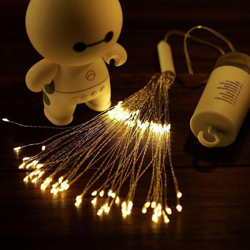 Светодиодная новогодняя гирлянда фонарь 200 LED Фейерверк пульт - Фото 6