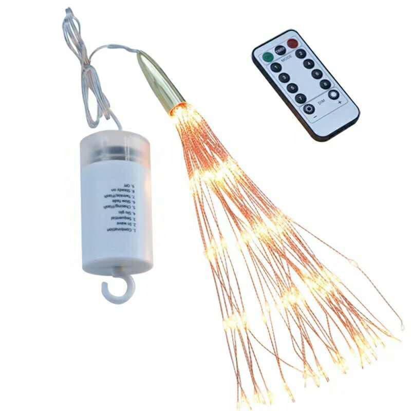 Светодиодная новогодняя гирлянда фонарь 200 LED Фейерверк пульт - Фото 9