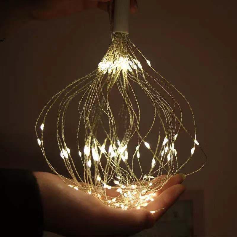 Светодиодная новогодняя гирлянда фонарь 200 LED Фейерверк пульт - Фото 4