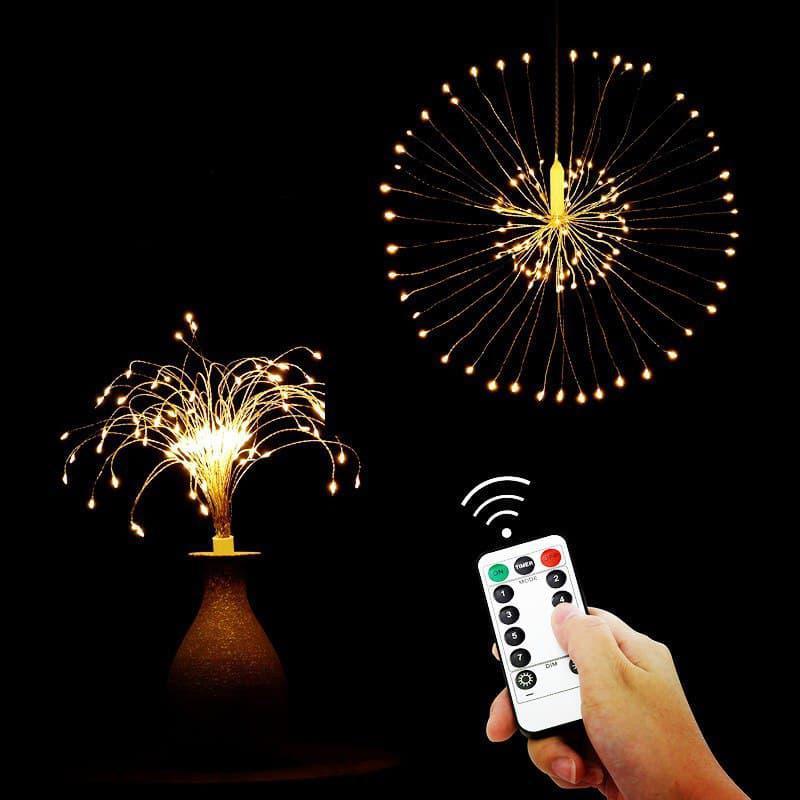 Светодиодная новогодняя гирлянда фонарь 200 LED Фейерверк пульт - Фото 3