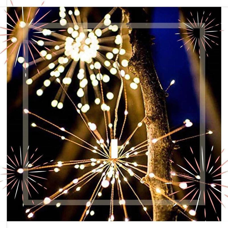 Светодиодная новогодняя гирлянда фонарь 200 LED Фейерверк пульт