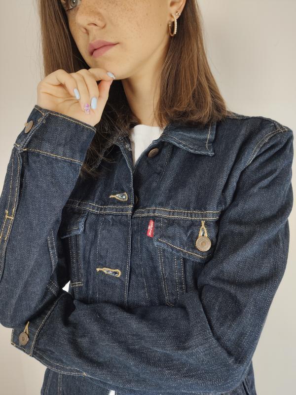 Levis темно-синяя джинсовая куртка, брендовая джинсовка левис ...