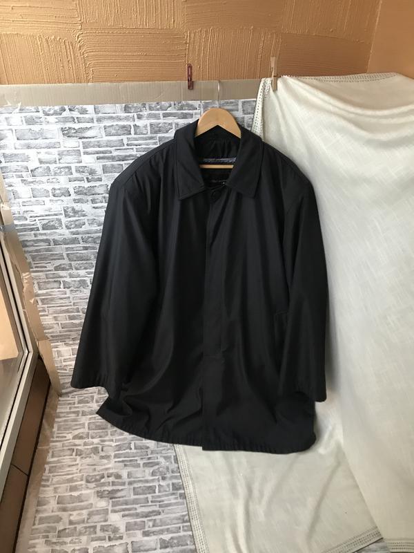 Очень большая чёрная тёплая куртка трансформер плащ пальто car...