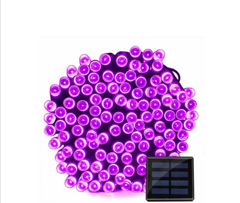 Гирлянда на солнечной батарее 200 LED 22м разные цвета 8 режимов - Фото 3