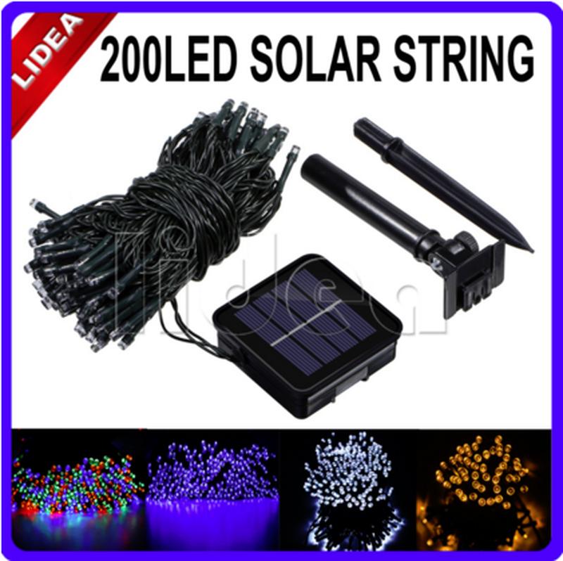 Гирлянда на солнечной батарее 200 LED 22м разные цвета 8 режимов - Фото 9