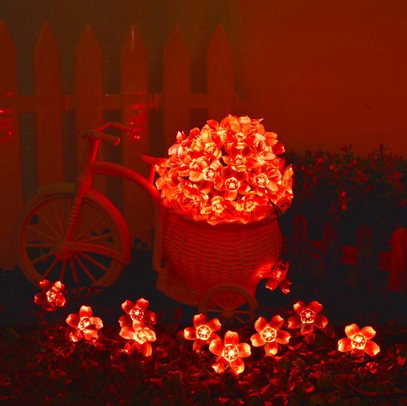 Гирлянда цветы на солнечной батарее 50LED 7м разные цвета 8 режим - Фото 12