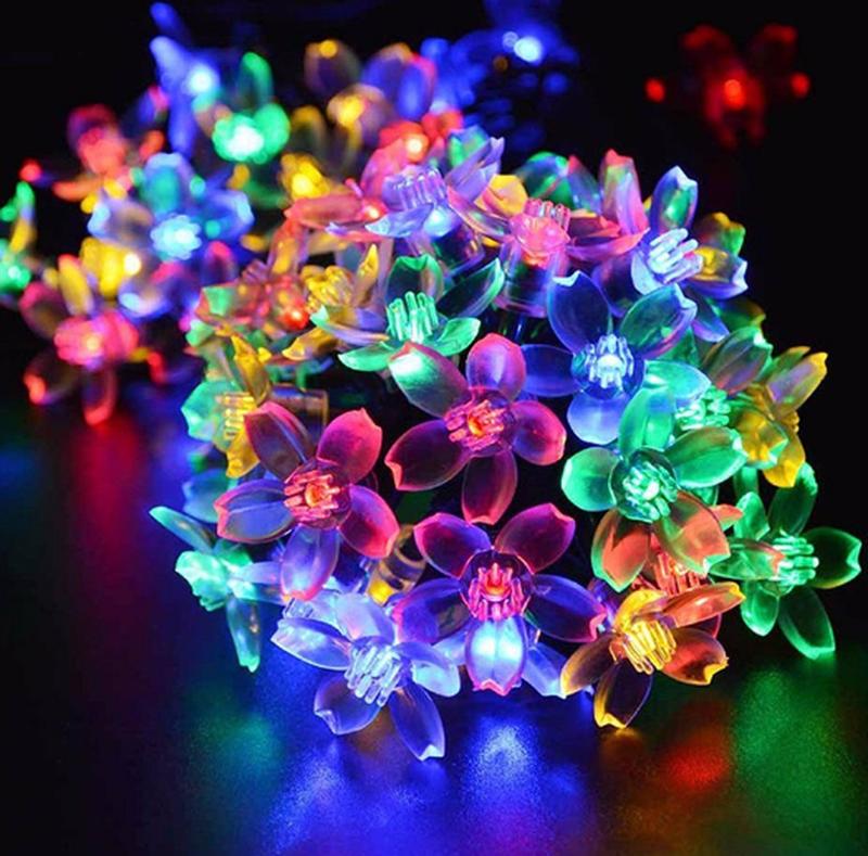 Гирлянда цветы на солнечной батарее 50LED 7м разные цвета 8 режим - Фото 13