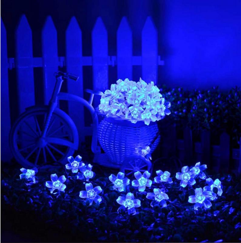 Гирлянда цветы на солнечной батарее 50LED 7м разные цвета 8 режим - Фото 9