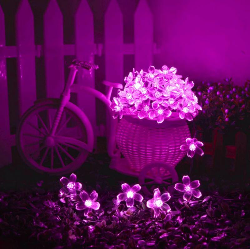 Гирлянда цветы на солнечной батарее 50LED 7м разные цвета 8 режим - Фото 11