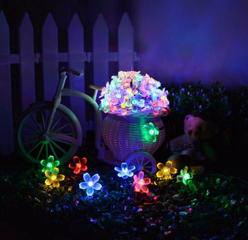 Гирлянда цветы на солнечной батарее 50LED 7м разные цвета 8 режим - Фото 14