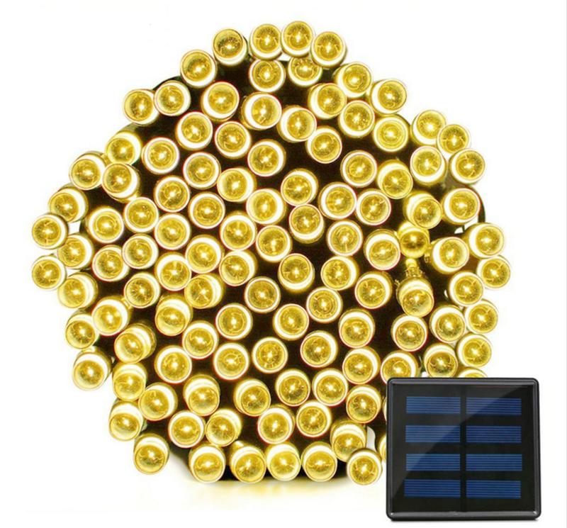 Гирлянда на солнечной батарее 100 LED 12м разные цвета 8 режимов - Фото 8