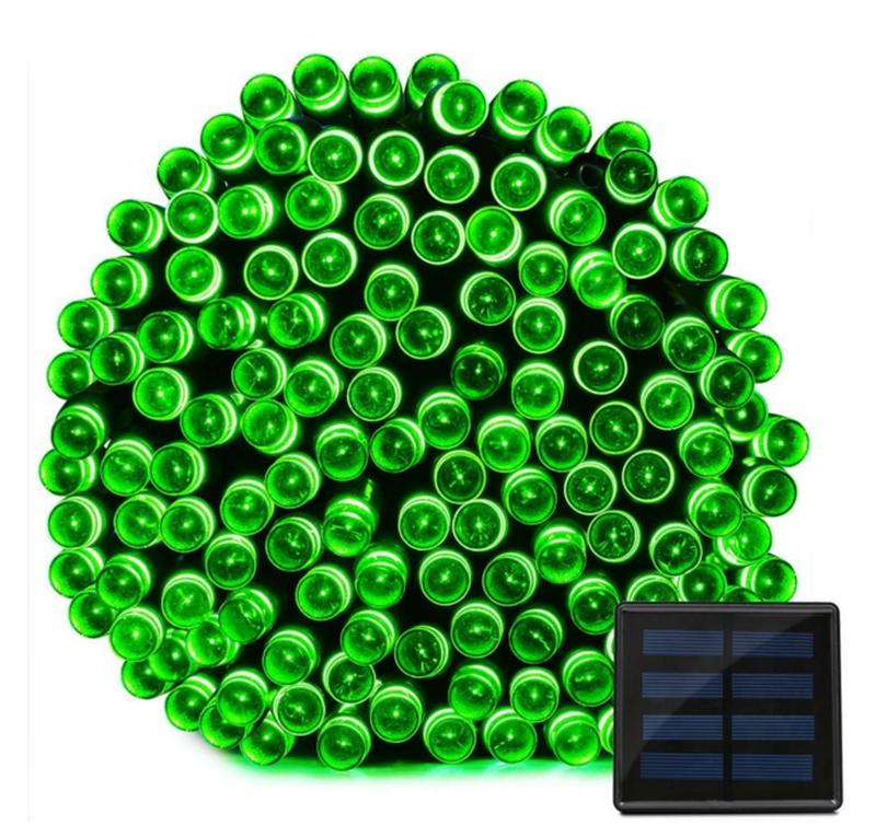 Гирлянда на солнечной батарее 100 LED 12м разные цвета 8 режимов - Фото 4